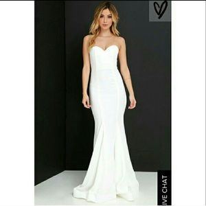 Lulu's Sorella White Gown
